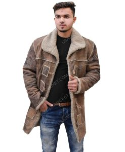 Men's Leather Shearling Coat