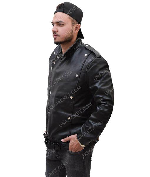 Men's Motorcycle Black Leather Jacket