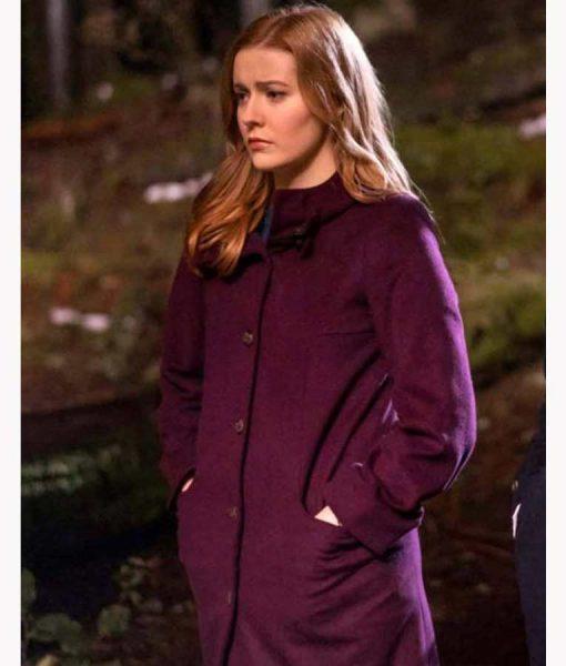 Nancy Drew Kennedy McMann Purple Coat
