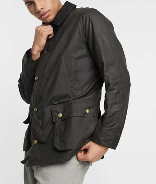 Omar Sy Lupin 2021 Assane Diop Black Cotton Jacket