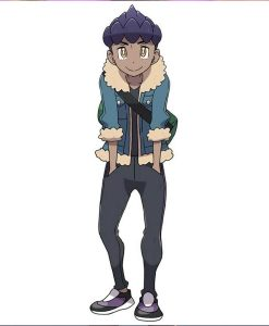 Pokemon Sword and Shield Hop Blue Jacket With Shearling Trim