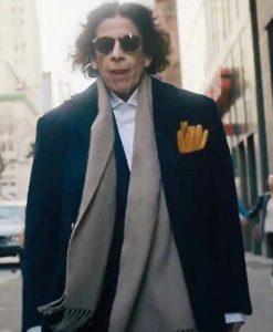 Pretend It's A City Fran Lebowitz Blue Trench Coat