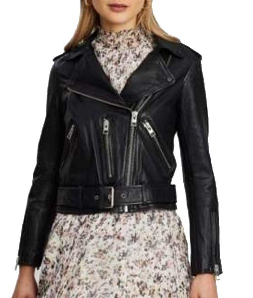 Riverdale S05 Betty Cooper Black Cropped Leather Jacket