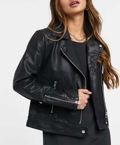 Riverdale S05 Toni Topaz Black Leather Biker Jacket
