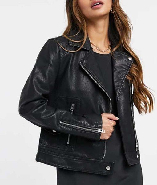Riverdale S05 Toni Topaz Leather Biker Jacket