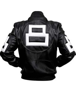 Seinfeld Michael Hoban 8 Ball Leather Jacket Bomber Style