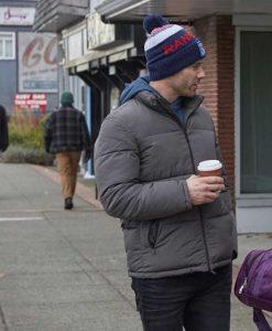 Luke Macfarlane Taking a Shot at Love Ryan Puffer Jacket