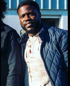 The Man from Toronto Kevin Hart Blue Quilted Jacket