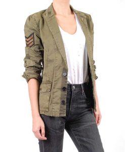 Mekia Cox The Rookie Season 03 Nyla Harper patchwork Jacket