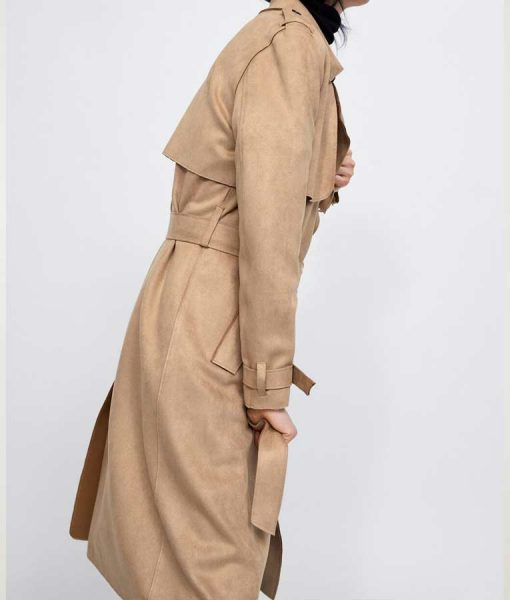 The Young and the Restless Sharon Newman Rosales Suede Leather Coat