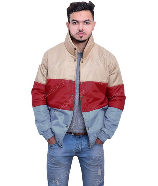 Tri Color Satin Jacket