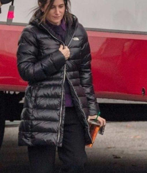 WandaVision Agnes Black Puffer Hooded Coat