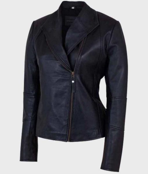 Women's Shawl Collar Leather Jacket