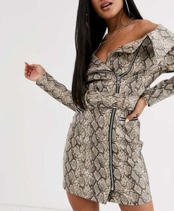 Zoeys Extraordinary Playlist Mo Snake Skin Dress