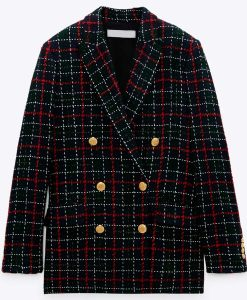 Audrey Corse Double-breasted All Rise S02 Samantha Powell Plaid Blazer