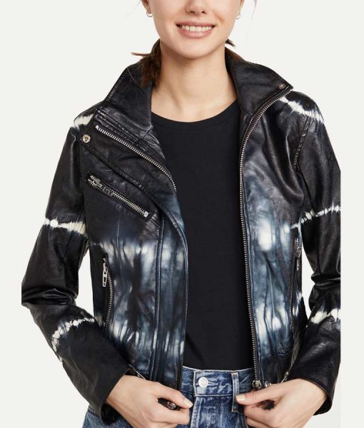 Batwoman S02 Mary Hamilton Tie-dye Leather Jacket