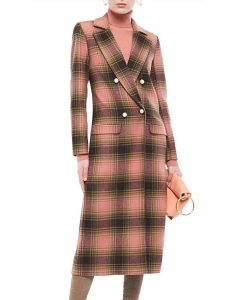 Behind Her Eyes (2021) Adele Pink Plaid Coat