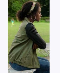 Behind Her Eyes Louise Leather Sleeve Jacket