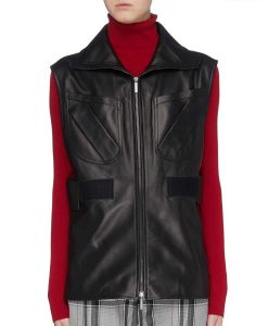 L.A.'s Finest S02 Sydney Burnett Black Leather Vest
