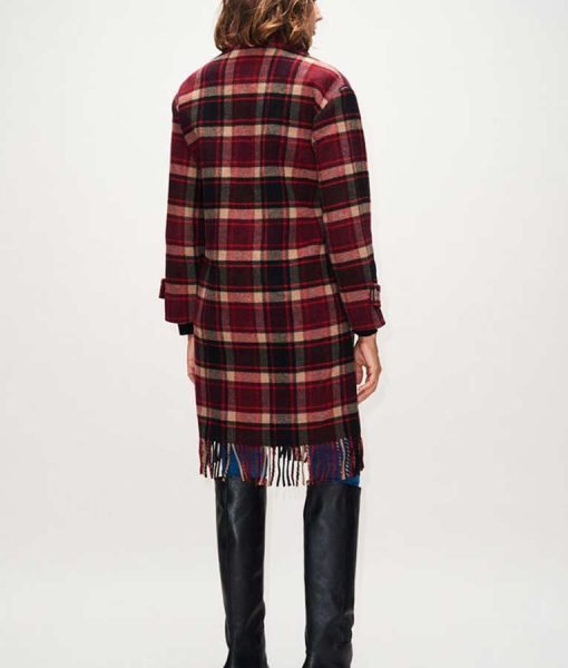 The Drowning Jodie Checked Fringe Coat