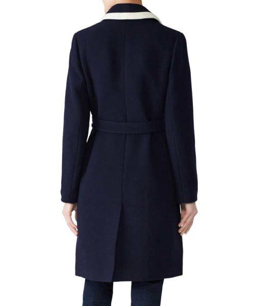 Meghan Markle Navy Blue Coat