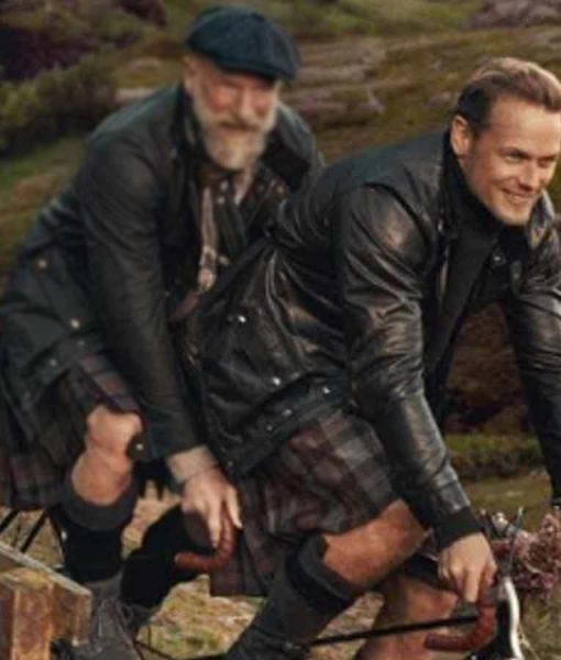 Men In Kilts A Roadtrip With Sam And Graham Sam Heughan Black Jacket