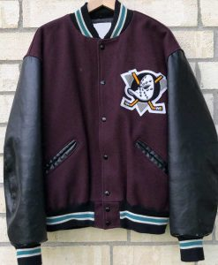 Mighty Ducks Letterman Jacket For Unisex