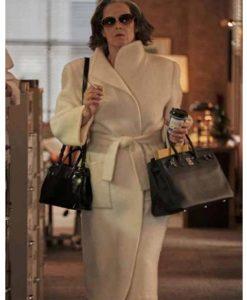 My Salinger Year 2021 Sigourney Weaver White Trench Coat