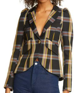 Riverdale S05 Vanessa Morgan Plaid Blazer
