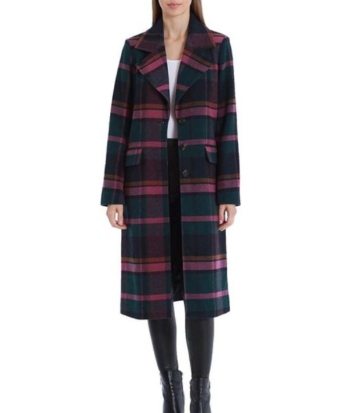 Riverdale S05 Veronica Lodge Plaid Trench Coat
