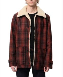 Superman and Lois Clark Kent Plaid Jacket With Shearling Collar