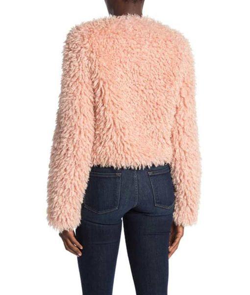 The Equalizer 2021 Laya DeLeon Hayes Pink Fur Jacket
