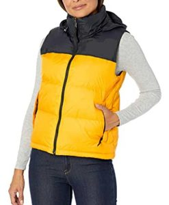 The Equalizer 2021 Delilah McCall Yellow and black Puffer Vest