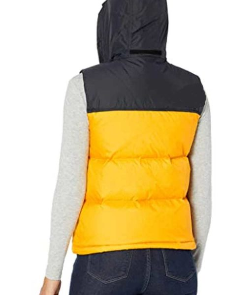 The Equalizer 2021 Delilah McCall Yellow Puffer Vest