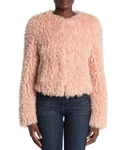 The Equalizer 2021 Delilah McCall Pink Fur Jacket