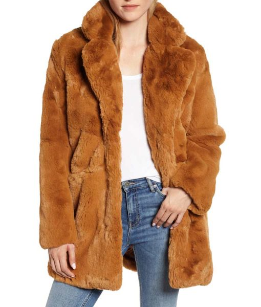 The Equalizer 2021 Melody Chu Brown Faux Fur Coat