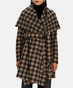 The Equalizer 2021 Melody Chu Blanket Houndstooth Coat