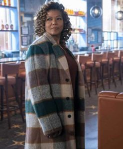 The Equalizer 2021 Queen Latifah Plaid trench Coat