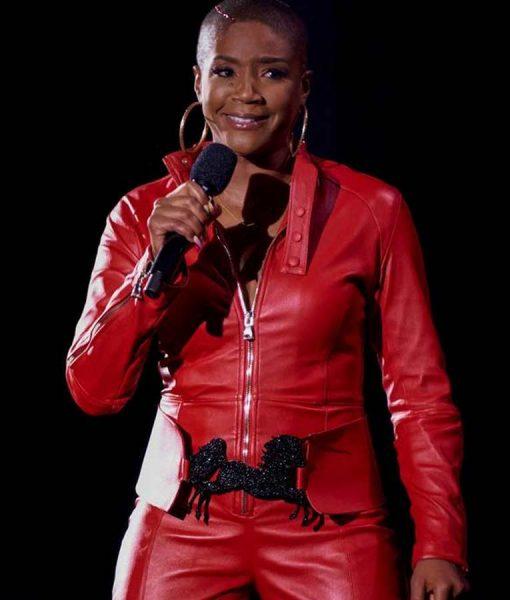 They Ready S02 Tiffany Haddish Red Leather Jacket