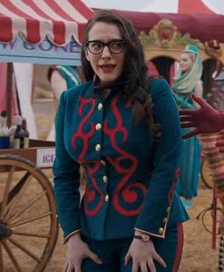 Kat Dennings WandaVision Darcy Lewis Blue Cotton Jacket