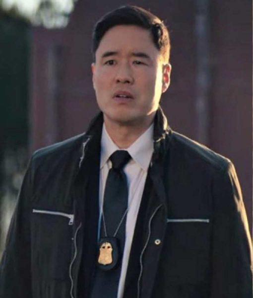 Randall Park WandaVision Jimmy Woo Black Jacket
