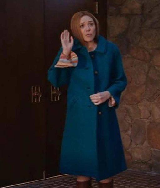 WandaVision Wanda Maximoff Blue Mid-length Coat