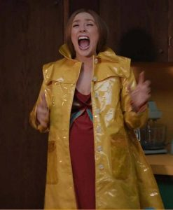 WandaVision Elizabeth Olsen Yellow Duster Coat