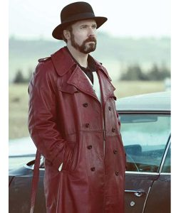Fargo Gale Kitchen Maroon Leather Coat