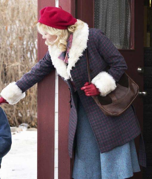 Fargo Peggy Blumquist Peacoat With Shearling Trim