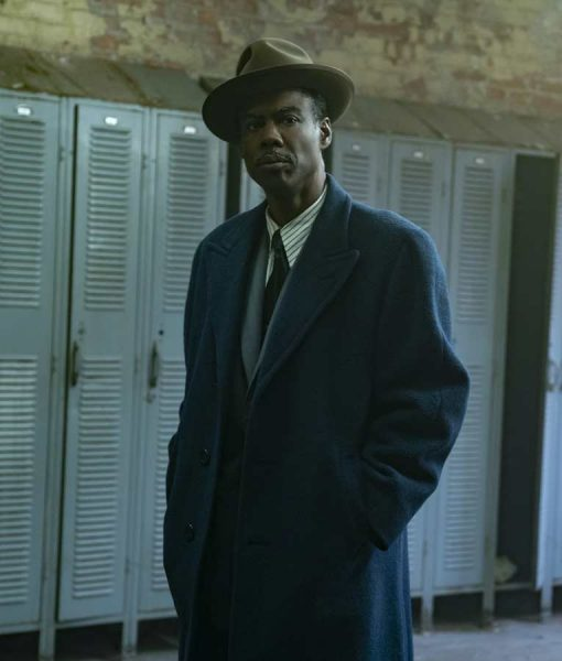 Chris Rock Blue  Fargo S04 Loy Cannon Trench Coat
