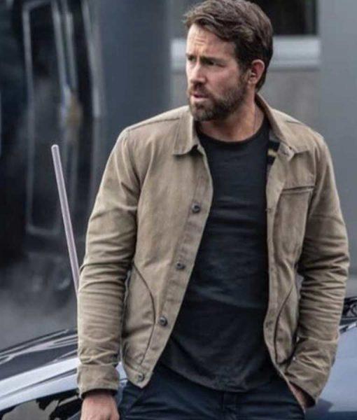 Ryan Reynolds The Adam Project 2021 Cotton Jacket