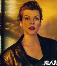 Milla Jovovich The Rookies Black Leather Blazer