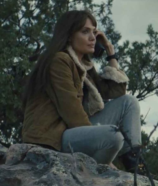 Angelina Jolie Those Who Wish Me Dead Brown Jacket
