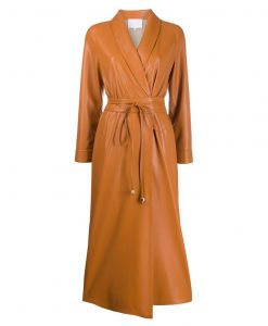 The Flash S07 Iris West Wrap Leather Coat